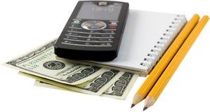 Geld, phone2 Royalty-vrije Stock Foto's