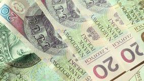 Geld Poolse Zloty Volledige HD met gemotoriseerde schuif 1080p stock footage