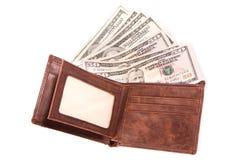 Geld in Portefeuille Royalty-vrije Stock Afbeelding