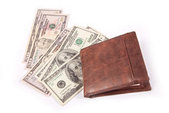 Geld in Portefeuille Royalty-vrije Stock Foto