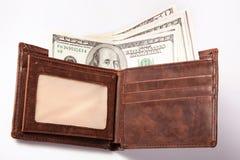 Geld in Portefeuille Stock Afbeeldingen