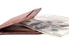 Geld in Portefeuille Royalty-vrije Stock Fotografie