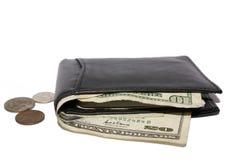 Geld in portefeuille royalty-vrije stock foto's