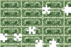 Geld-Puzzlespiel Stockfoto