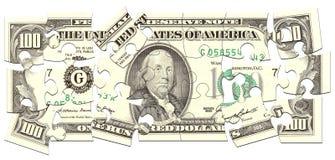 Geld-Puzzlespiel Stockfotografie