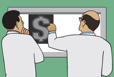 Geld-Röntgenstrahl Stockbilder