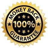 Geld-Rückseiten-Garantie Stockfotografie