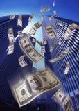 Geld-Regen Stockbilder