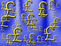 Geld-Regen Großbritannien Lizenzfreies Stockbild
