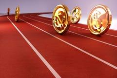 Geld-Rennen Lizenzfreies Stockbild