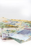 Geld-Rumäne Leu Stack Lizenzfreie Stockfotos