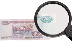 Geld, russischer Rubel Stockfoto