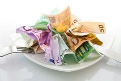 Geld-Salat Lizenzfreie Stockbilder