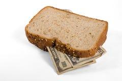 Geld-Sandwich Lizenzfreies Stockfoto