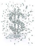 Geld-Schwarm Lizenzfreie Stockfotos