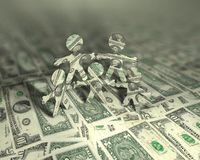 Geld-Seiltänzer 2 Stockfoto