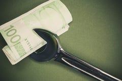 Geld-Service Stockbild