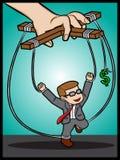 Geld-Sklave Lizenzfreie Stockfotos