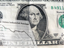 Geld - slechte economie Stock Foto