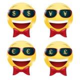 Geld-smiley Stockfotos