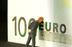 Geld sorgt sich Metapher Stockfoto