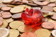 Geld sparen Arkivfoto