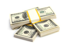 Geld - Stapel dollars Stock Afbeeldingen