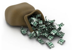 Geld-Stapel $100 Dollarscheine stock abbildung