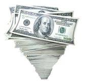 Geld in stapel van contant geld Royalty-vrije Stock Foto's
