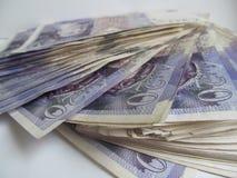 Geld Sterling Twenties Wonga 1 royalty-vrije stock afbeelding