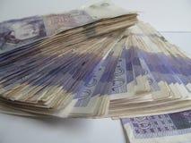 Geld Sterling Twenties Wonga 2 stock afbeelding