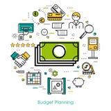 Geld-Steuerung und Budget-Planung Lizenzfreie Stockfotos
