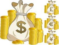 Geld-Tasche Stockfoto