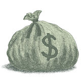Geld-Taschen-Illustration Stockfotografie