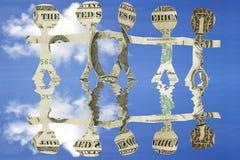 Geld-Team Stockbild