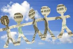 Geld-Team Stockfoto
