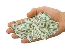 Geld ter beschikking Royalty-vrije Stock Afbeeldingen