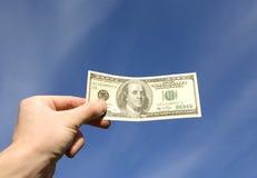 Geld ter beschikking Stock Foto