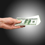 Geld ter beschikking Stock Foto's