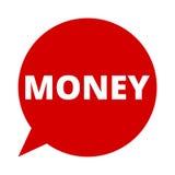Geld, Toespraakbel Stock Fotografie