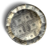 Geld-Torte US-Dollar Stockfoto