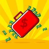 Geld treten zurück lizenzfreie abbildung