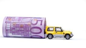 Geld u. Auto Stockbild