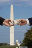 Geld u. Politik Lizenzfreie Stockfotos