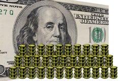 Geld- und Ölbarrel Lizenzfreies Stockfoto