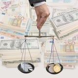 Geld und Aufblasen Stockfotografie