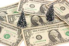 Geld und Bäume Stockfotos