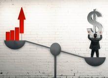 Geld- und Balancenkonzept Lizenzfreies Stockbild