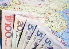 Geld und China Stockbilder