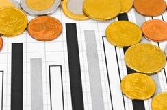 Geld und Diagramm Lizenzfreies Stockfoto